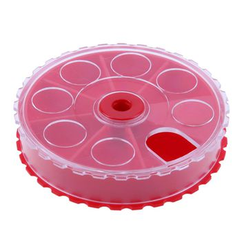 Round Plastic Portable Fishing Bait Lures Tools Box Case 7 Compartments Storage Container Accessories Tool Fishing Tackle Boxes