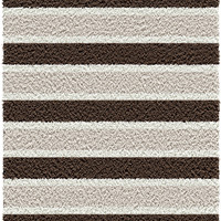 Michael Anthony Furniture Baywater Collection Beige/Chocolate Striped Machine-Made Polypropylene Area Rug (5 x 7x 6)