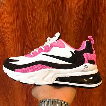 Nike air max 270 Breathable casual running sneakers barb White Pink