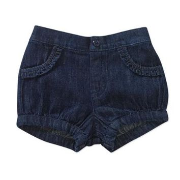 Garanimals Newborn Baby Girl Denim Bubble Shorts - Walmart.com