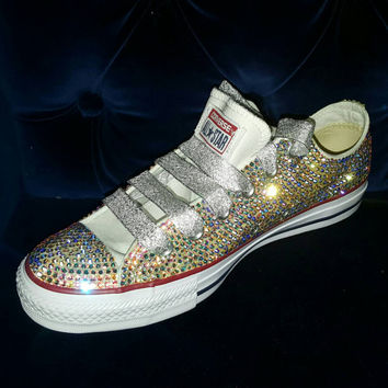 Gorgeous Swarovski Crystal Bling Converse Chuck Taylor All Stars d5d3696a9b68