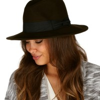 Olive Ribbon Fedora Hat