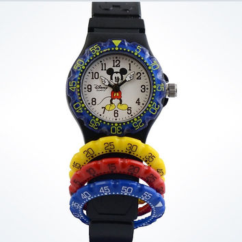 Disney Parks Mickey Mouse Interchangeable Dive Watch New with Case