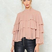 Dry My Tiers Ruffle Blouse