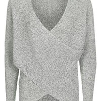 Twist Wrap Front Jumper - Clothing