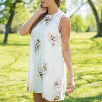 Fine In Floral Dress, Ivory