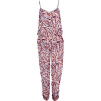 Red paisley print casual cami jumpsuit - jumpsuits - playsuits / jumpsuits - women