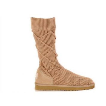 Uggs Boots Black Friday 2016 Knit Classic Argyle 5879 Chestnut For Women 95 33