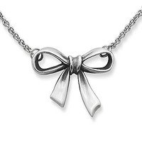 James Avery Bow Necklace - Silver