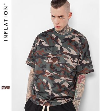 ca qiyif INFLATION Men's Hightstreet Summer Drop-shoulder Loose Camouflage Tees
