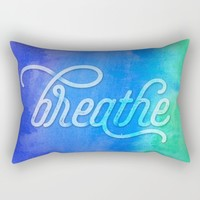 Breathe Rectangular Pillow by Noonday Design | Society6
