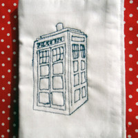 Dr Who TARDIS needle book by MrTeacup on Etsy