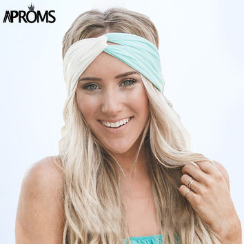 Aproms Twist Turban Headband for Women Hair Accessories Stretch Hairbands Girls Headwear Headbands Head Wrap Band Bandana