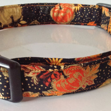 Fall Seasonal Thanksgiving Pumpkin Collar for Dogs and Cats