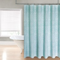 "Royal Bath Floral Meadow Water Repellant Fabric Shower Curtain -70"" x 72"" with 12 Metal Roller Hooks"