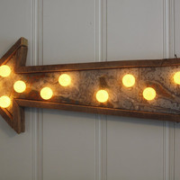 Wedding Sign Hotel metal barn wood arrow light by mwest0425