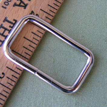 "1"" Metal Rectangle, Ideal and Sturdy for totes, purses, pet martingales, belts."