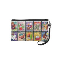 Cute Japan Year of Animal Stamp Pattern Wristlet Purse from Zazzle.com