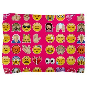 pink emojis Pillow Sham