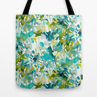 Local Color (Teal) Tote Bag by Jacqueline Maldonado