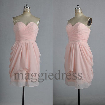 Custom Pink Cheap Short Bridesmaid Dresses 2014 Short Bridesmaid Dresses Party Dress Short Prom Dress Evening Dresees Homecoming Dresses