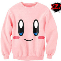 Kirby Pink Face Sexy-Sweater Creckneck