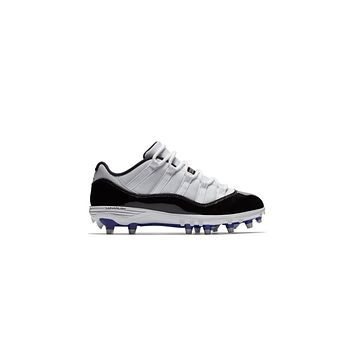 AA SPBEST Jordan XI Retro Low TD Men's Football Cleat- White/Black/Concord