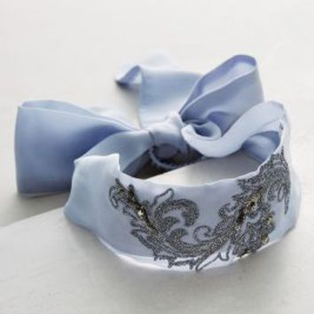 Candolle Tie-Back Turban Band by Anthropologie in Blue Size: One Size Hair
