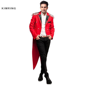 KIMRING NUTCRACKER HALLOWEEN COSTUME FASHION WEDDING MASQUERADE PARTY ADULT MEN RINGMASTER COSTUME FANTASIA CARNIVAL COSPLAY