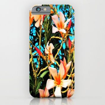 Flowers on Fire iPhone & iPod Case by Yuval Ozery