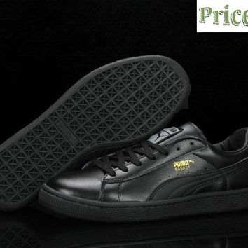 New Arrival PUMA Classic Basket Patent Leather Clyde Wraith Pack Black shoes
