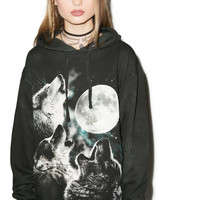 Mountain Three Wolf Moon Hoodie Multi