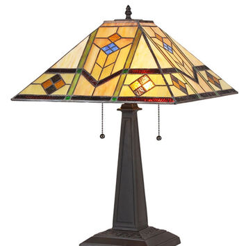 Stained Glass Arts & Crafts Oliver Table Lamp