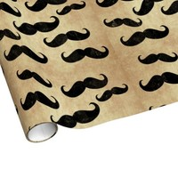 Vintage Mustaches Gift Wrap Paper