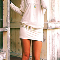 Wailea Raglan Sleeve Tunic Top Dress in Bamboo Organic Cotton Blend Jersey by Indigo Sage...Eco Chic Clothing from Hawaii.