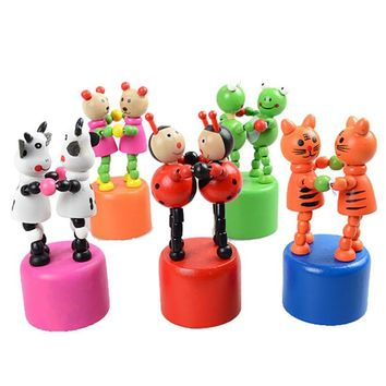 Kids Intelligence Toy Dancing Stand Colorful Rocking Giraffe Wooden Toy Wooden spring swing dance toys for children  #YL