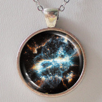 Nebula Necklace -NGC 5189- astronomy necklace - Galaxy Series