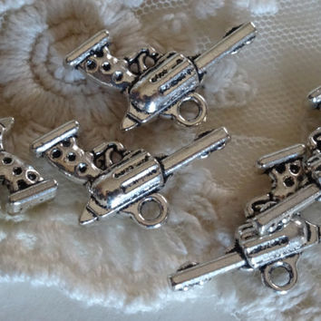 Silver Hand Gun Charms Vintage Style Revolver Gun Charms Antique Silver Metal Revolver Gun Charms Diy Jewelry Making Supplies