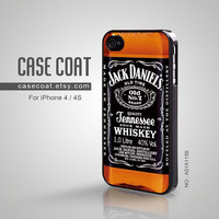 iPhone 4 Case, iPhone 4s Case - Jack Daniels, Cool, old no 7, Tennessee, iPhone Case, Case for iPhone - A01A1159