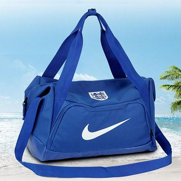 NIKE Travel bag Carry-on bag luggage Tote Handbag Blue