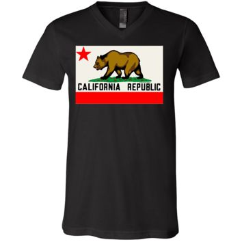 California Republic Original Bear Flag Asst Colors V-Neck