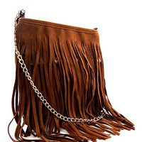 Boho Fringed Cross Body Bag