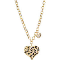 GUESS Guess Gone Wild Animal Print Heart Necklace