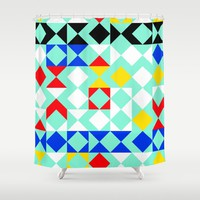Geometric XVI Shower Curtain by tmarchev