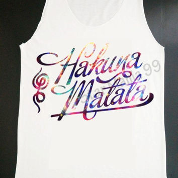 Galaxy Hakuna Matata Tank Top Hakuna Some Vodka Tank Top Hipster Tank Top Women Shirt Tunic Tank Top Vest Sleeveless Women TShirt Size S,M,L