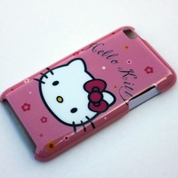 hello kitty cute head Case Cover For apple ipod touch itouch 4 4G