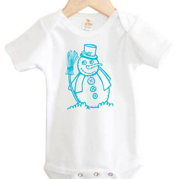 Snowman Baby Onesuit // Winter Baby // Christmas Baby // holiday // snowman