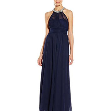 Speechless Junior's Illusion Long Prom Dress, Midnight, 3