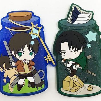 Cool Attack on Titan 2pcs/lot  Magnetic Sticker fridge stickers action figure AT_90_11