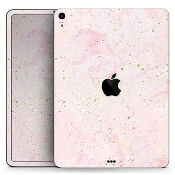 """Karamfila Watercolor & Gold V12 - Full Body Skin Decal for the Apple iPad Pro 12.9"""", 11"""", 10.5"""", 9.7"""", Air or Mini (All Models Available)"""